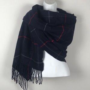 Plaid thick blanket scarf/wrap with Bonus